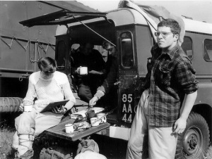 1973 Loch Arkaig Control wagon - me just a bairn with Abbs Hay George Bruce.