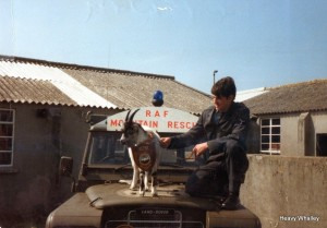 A young Paul Duckworth with Tryfan the goat!