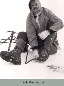 The RAF Smock and wind up crampons- Karrimor Gaiters.