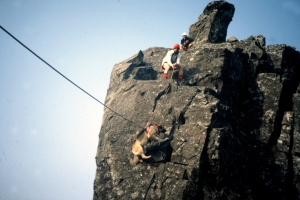 983 Skye teallach In pin .Climbers John Cosgrove, Blair Rodgers.JPG