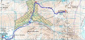 A ' Ghlas Bheinn route