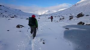 Deep snow as the forecast said!