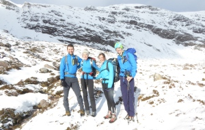 The happy group from Edinburgh we met. If you found a phone please get in touch. Safe climbing.