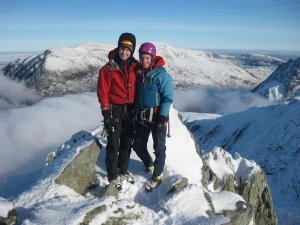 The two missing climbers. Rachel and Tim - did you see them climbing on Ben Nevis this weekend?