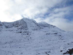 The Big Corries wild and snowy.