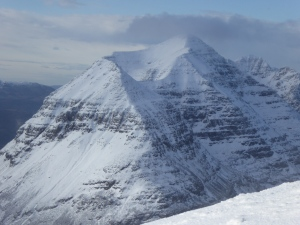 The views of the mighty Liathach with its Corries were outstanding