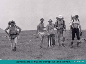 1988 tom taylor on ben with Dan Carrol with the Milton Mountaineers, the Blind group!