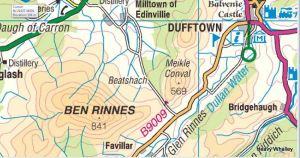 Ben Rinnes Map