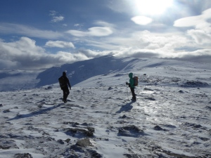On the ridge onto Carn Dearg