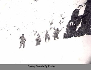 1953 one of the earliest photos of Avalanche probing in the UK? RAF Kinloss MRT