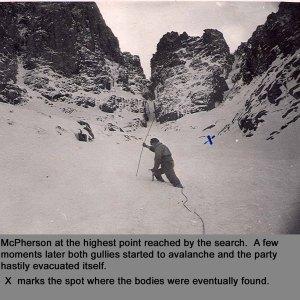 Avalanche on Ben Nevis