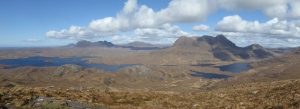 Looking from the shoulder of Stac Pollaidh