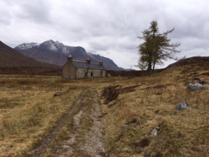 The ruined bothy at Achneigie how many stories