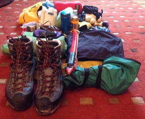 the gear without the rucksack