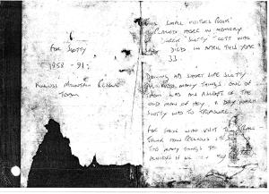 The Battered Visitors Book on the Old Man Of Hoy