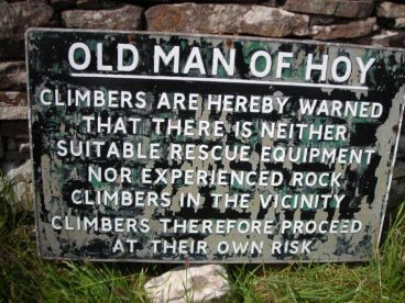 old-man-of-hoy-sign