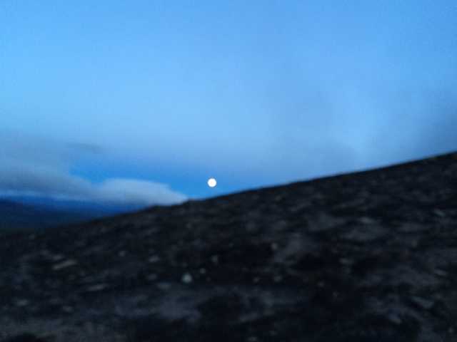 Early Morning light on Ben Rinnes from a magic moon.