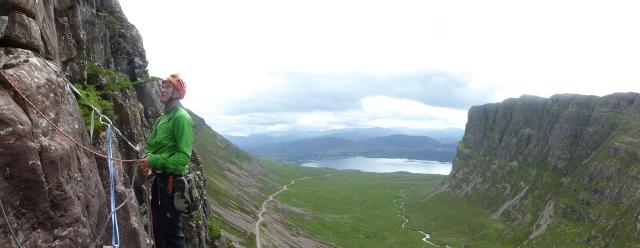 Dan at Beleach Na Ba what a view.