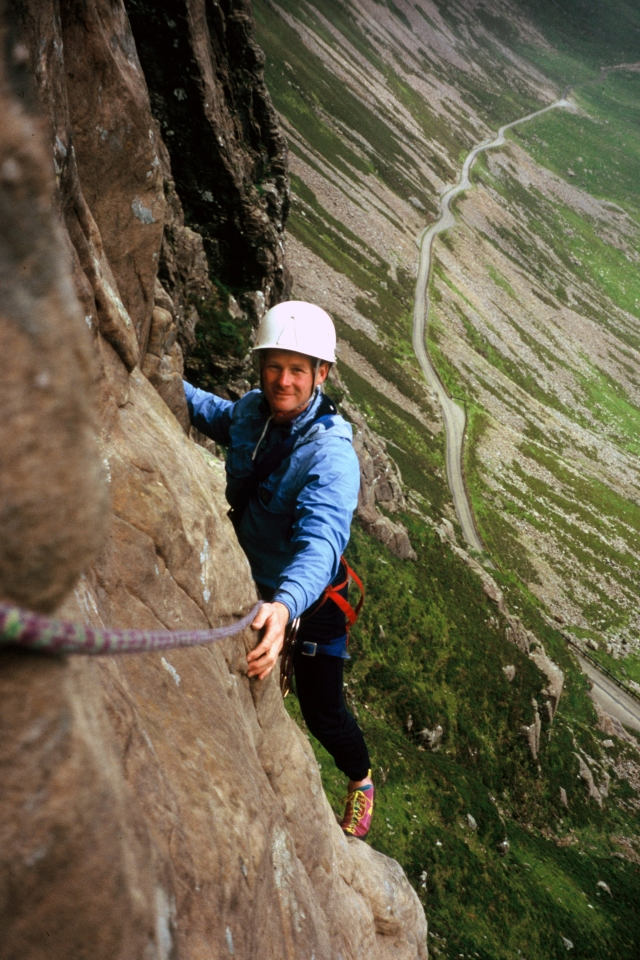 Ray Shafron on the move out on Sword of Gideon many years ago when we were braver. Kinloss MRT.