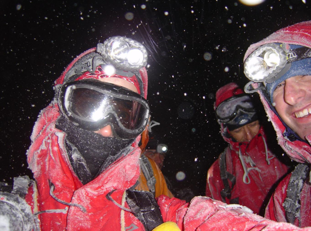 Night navigation in the winter an interesting experience.