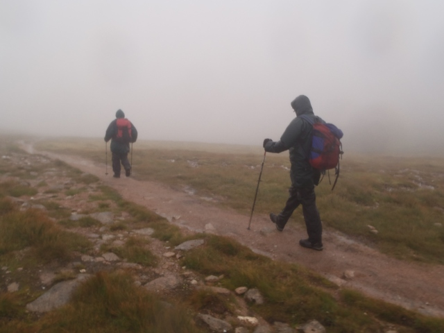 Walking on a path in the mist, add some snow and its gone or over rocky ground, in poor weather, what next?
