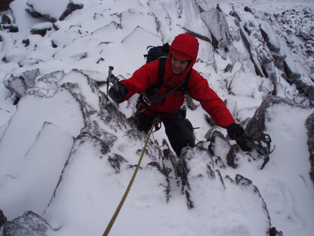 2007 High on the Ugly Step with all the gear. We follow in the foosteps of giants.