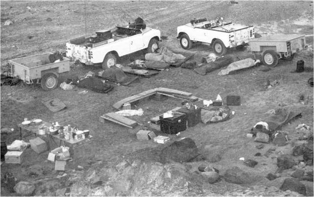 1974 living under the stars in Masirah - wild camping.