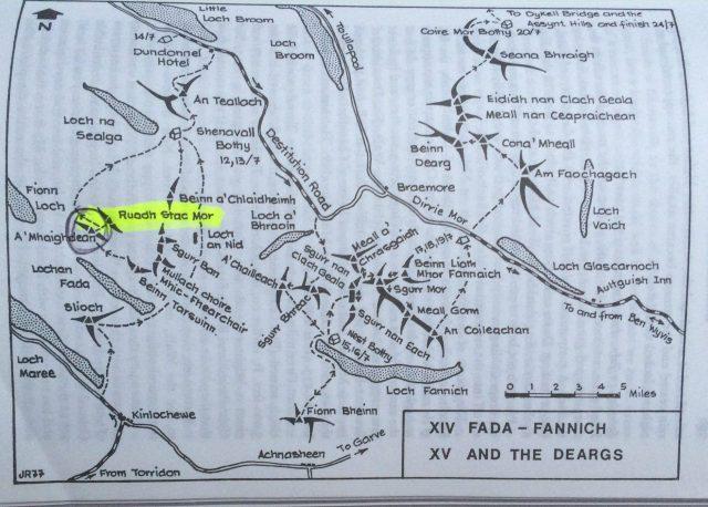 Fisherfield Munros Map