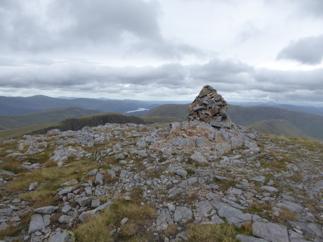 The weather still holding at the top of the Munro Sail Chaorainn