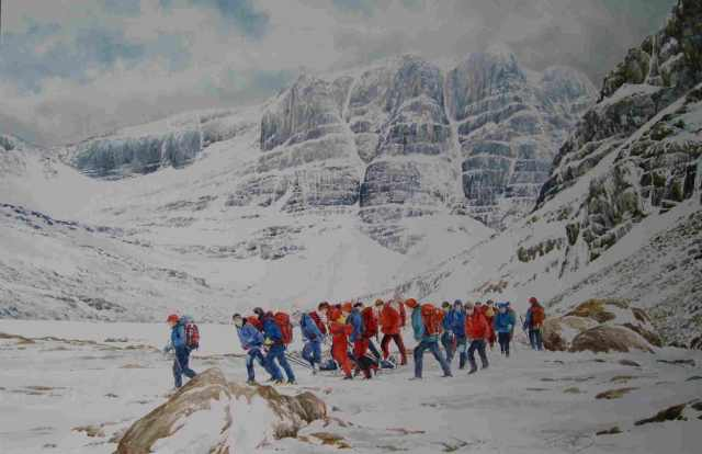 he Tripple Buttress Beinn Eighe from a painting by Pat O Donovan