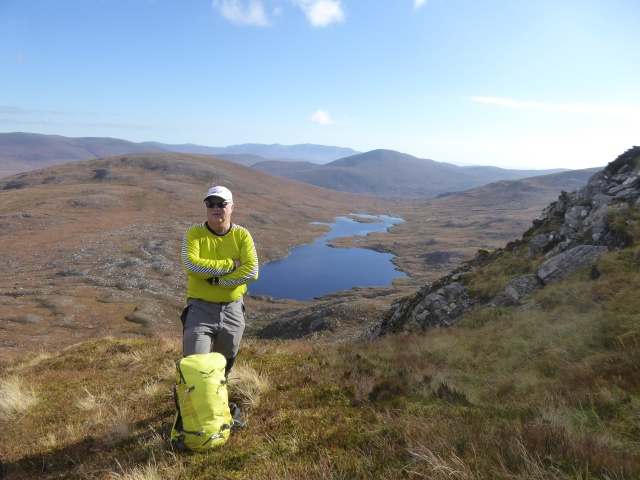 Just before we hit the ridge and hidden lochs come into view.