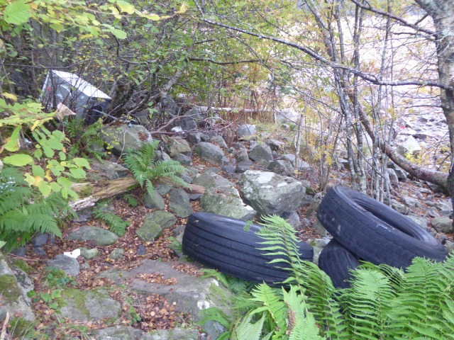 The rubbish near the layby at Loch Laggan tragic with old tyres a fridge and so much trash - a tragedy?
