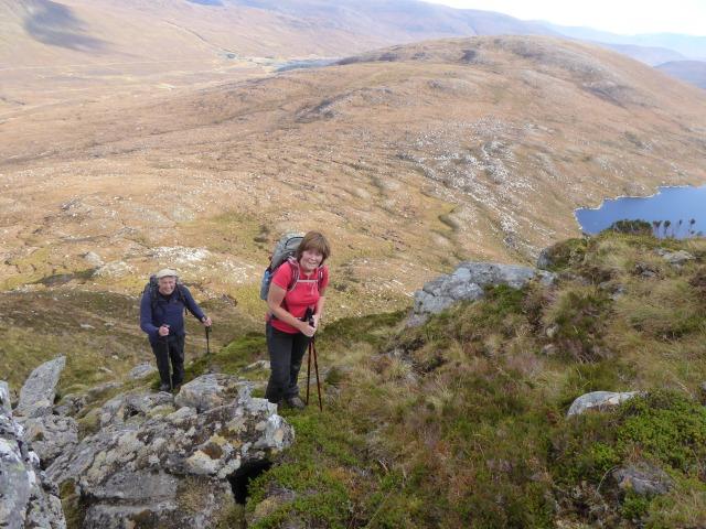 Enjoying the ridge on Beinn Liath Mor Fannich