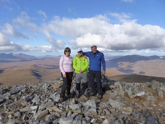 On the top of Beinn Liath Mor Fannich