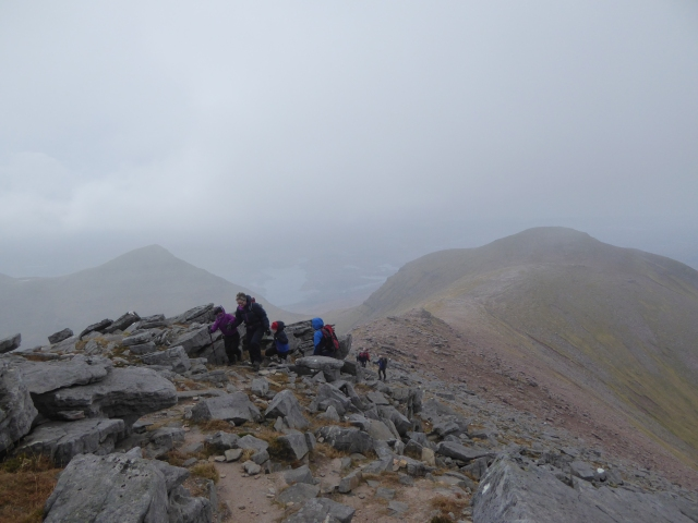 Misty ridge to Sail Gorm.