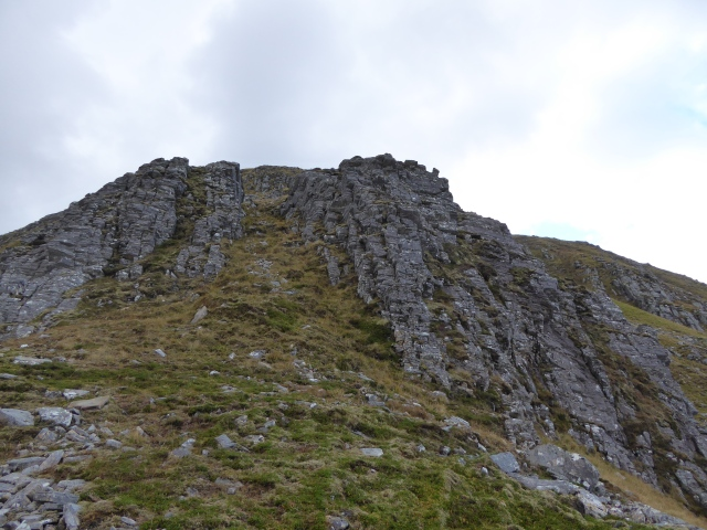 Steep descent from the last Munro