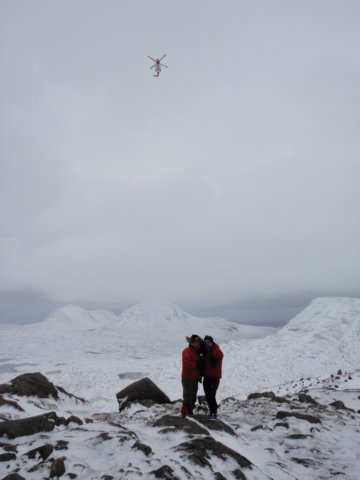 Flypast on Beinn Eighe a special moment