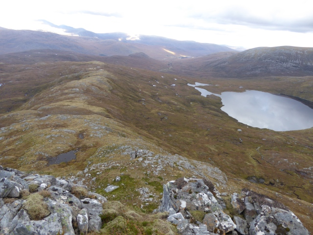 The ridge down to the Loch.