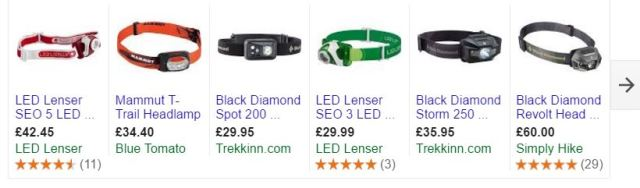 Lots of head torches available and articles on whats best have a look!