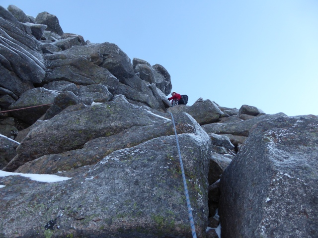 Great rocky climbing on crampons go anywhere territory