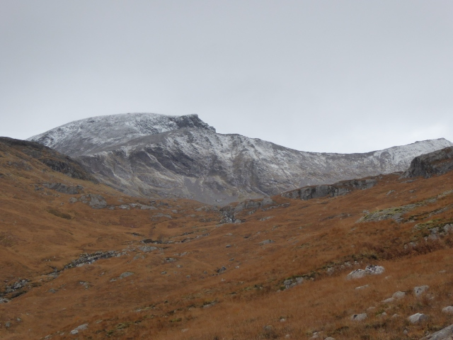 Rare views of the Back side of Ben Nevis and Carn Mor Dearg.