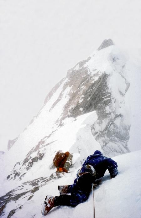 The Ogre - Doug Scott crawls off - Photo Clive Rowland,