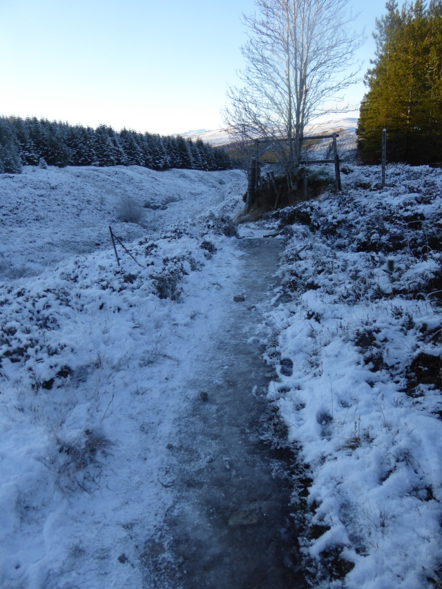 Take care on the very icy paths.