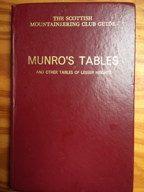 Our Bible The SMC Munros Tables.