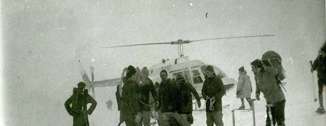 The tragic day on the plateau with the troops and the Jet Ranger helicopter.