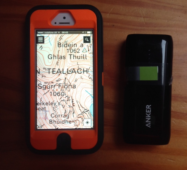 Iphone and case with mapping and spare battery and cable is my system. I find that I can enlarge the maps on the screen and its easier for my eyes to take in the detail on a enlarged screen. Any views?