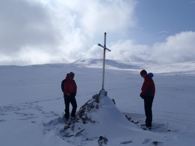 The RAF Lossiemouth MRT at the Anson Crash high in Assynt in 2013.