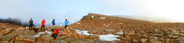 On the snow-less Cairngorm plateau in January.