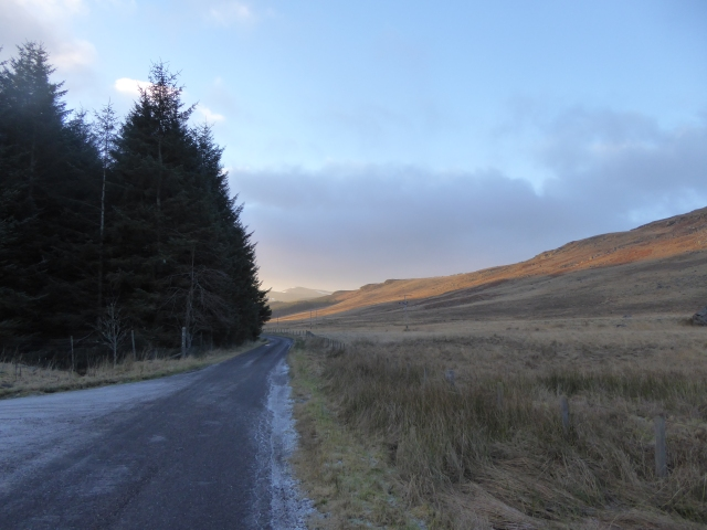 Early morning in Glen Isla New Years day