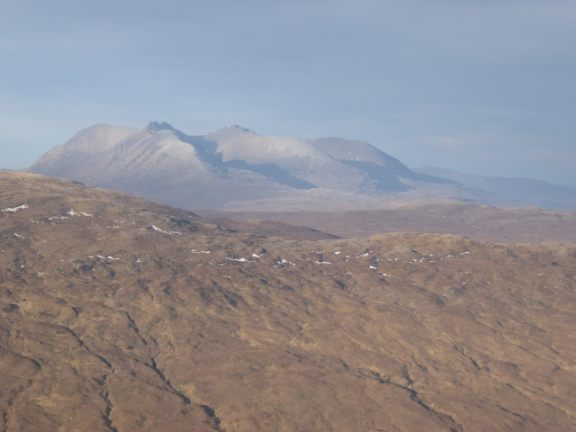 An Teallach dominates the scene as does the great Fisherfield hills.